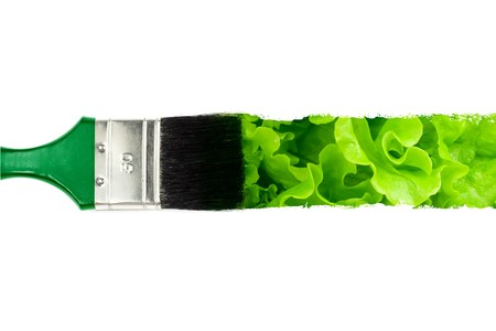 brush with abstract conceptual stroke Stock Photo