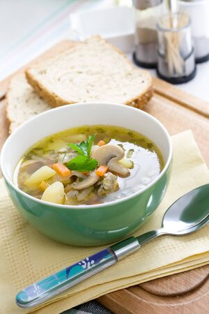 rich flavor: tasty home made mushroom soup