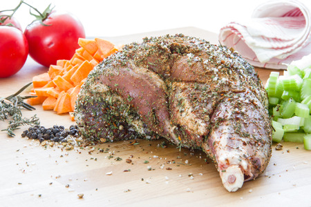 shank: Raw lamb shank Stock Photo