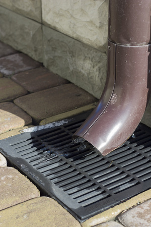 sewer: Sewer Rainwater and sewer grate for drainage system