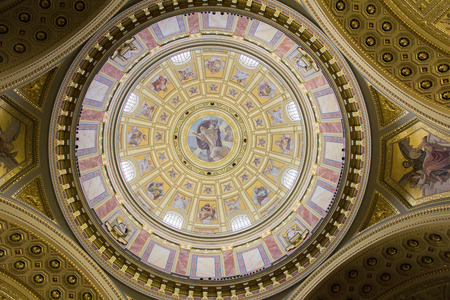 Inside St. Stephen Basilica in Budapest