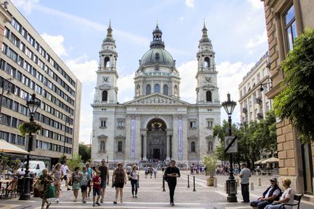 stephen: BUDAPEST, HUNGARY- JULY 19, 2016: St. Stephens Basilica in Budapest