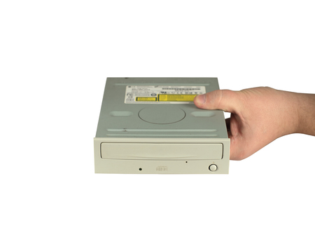 old computer drive in the palm of your hand