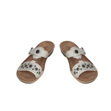 womens sandals on a white background