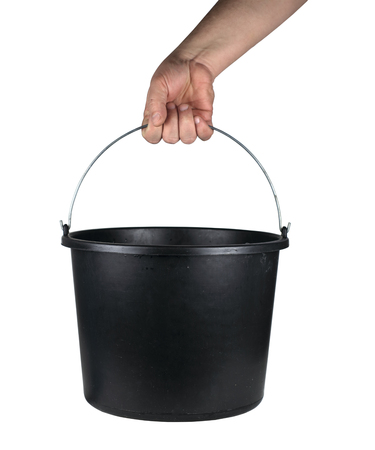 bucket held in the palm of your hand