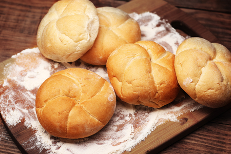 rolls on the bottom with flour