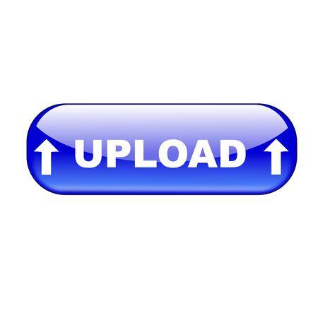 pulsante per l'invio di dati a Internet su sfondo bianco