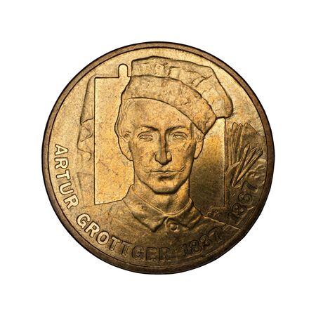 Arthur Grottger commemorative coin PLN 2