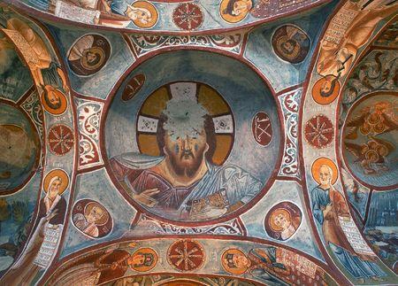 fresco: Ancient fresco in Cappadocia