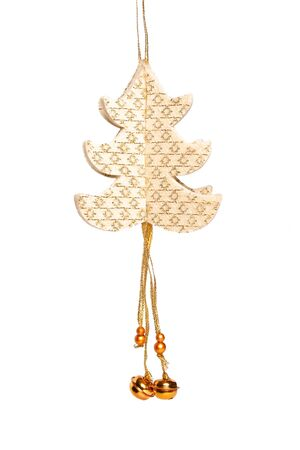 Handmade Christmas-tree decoration on white backround Stock Photo - 6892393