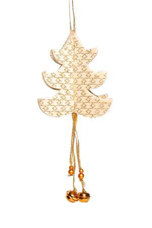 Handmade Christmas-tree decoration on white backround Stock Photo - 6892393