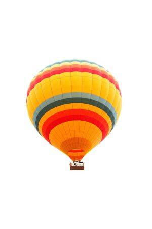Colorful hot air balloon isolated on white background Stock Photo - 7037043