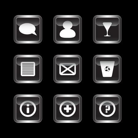 Miscellaneous dark icons set Stock Vector - 7123508