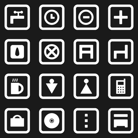 Collection of web icons Stock Vector - 7123511
