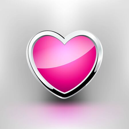 the Heart. Steel style. Pink light Stock Vector - 7160196