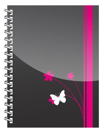 abstract diary illustration. vintage scrapbook. art notebook Vector
