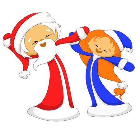 snow maiden: Santa Claus and Snow Maiden