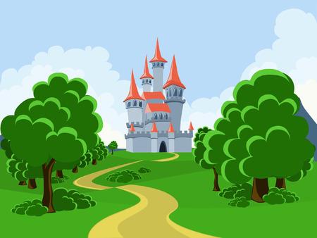 De weg naar het sprookjesachtige kasteel