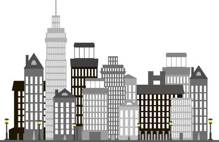 High-rise modern building Ilustração