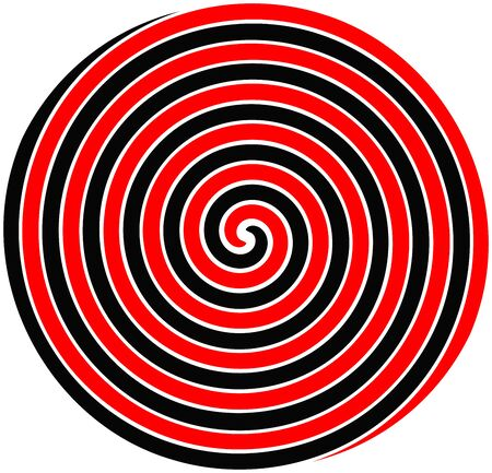 Spiral abstract swirl background in bright colors. Optical illusion.