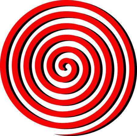 Abstract spiral background graphic. Abstract spiral background from red and black curved ray stripes