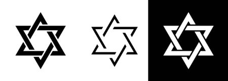 ?Magen David? (The Shield of David, or The Star of David, or The Seal of Solomon), the Jewish Hexagram. Traditional Hebrew sign and one of the main symbols of Israel, Judaism and Jewish identity. Иллюстрация