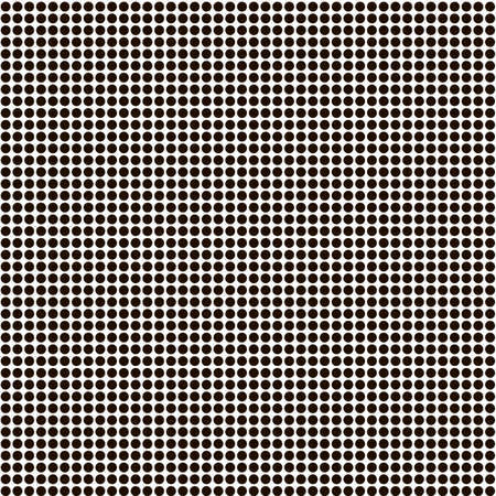 Seamless black dots on a white background