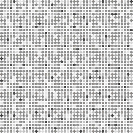 Seamless black and gray dots isolated on white background