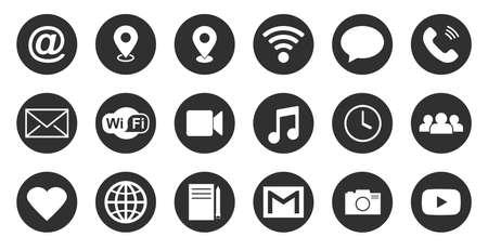 Web Kontakt symbol isolated on white background. internet, communication and connection icons. Vector illustration.
