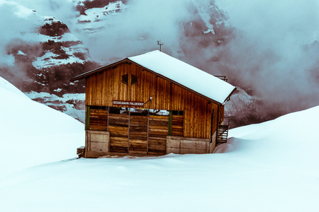 photos of the trains that take folks from Lauterbrunnen to Jungfraujoch. Banco de Imagens - 108243127