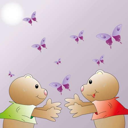 Sweet bears with love