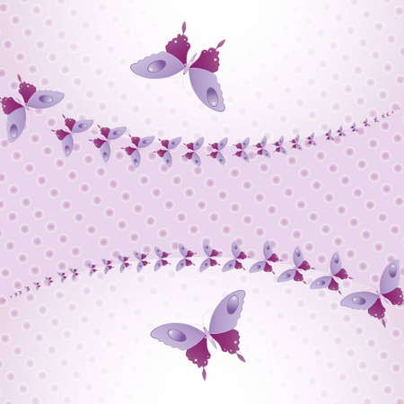 Purple butterflies in the air