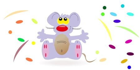 Purple mouse alone Illustration