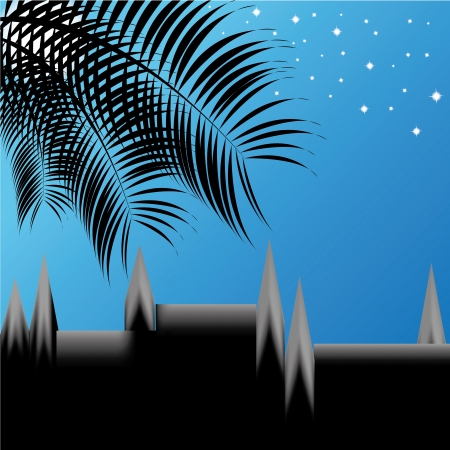Abstract night vector background