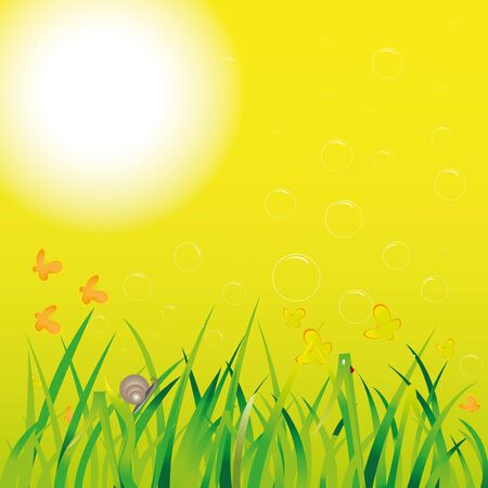 Happy summer background Stock Vector - 16621783