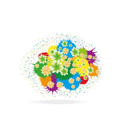 colorful summer flowers background Illustration