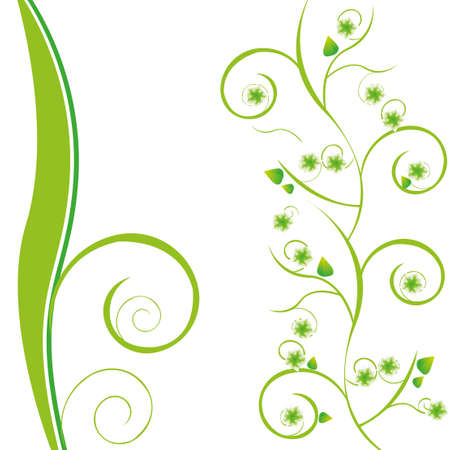 beautyful green floral background Illustration