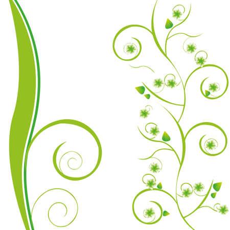 beautyful green floral background Illustration