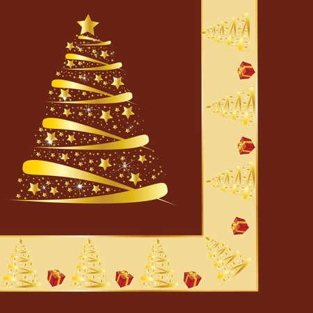 new yea: Hermoso fondo de Navidad con sorpresa Vectores