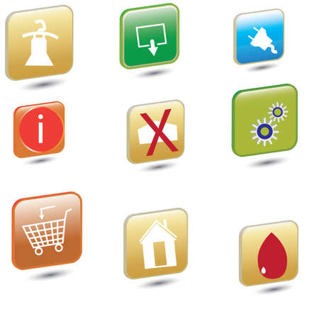 bbusiness icons in 3D Illustration