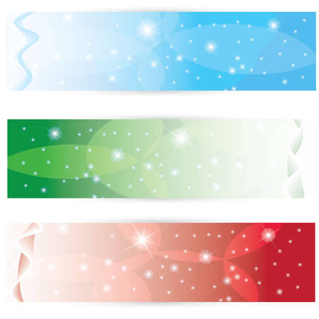 Beautiful winter icons in 3 color Vector