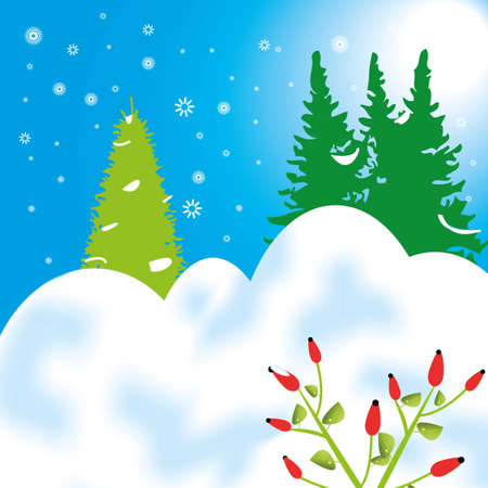 Nice winter background Illustration