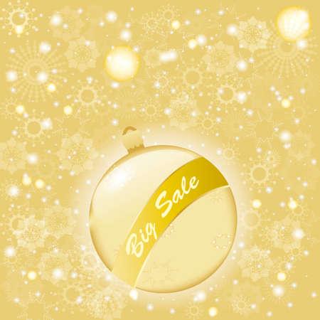 beautiful Golden Christmas ball