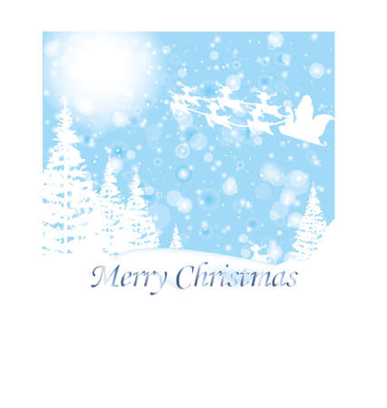 christmas wish card winter Vector
