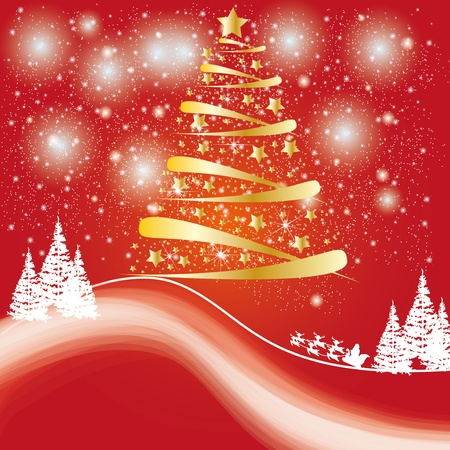 Beatiful winter card or backdrop