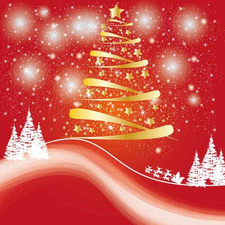 Beatiful winter card or backdrop Stock Vector - 16931565