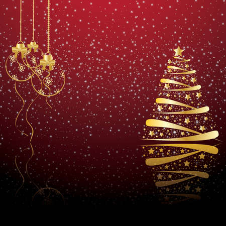 Beautiful winter christmas backdrop, background Vector