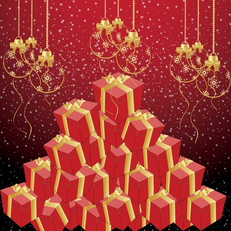 Beautiful suprise tree Christmas Stock Vector - 16931572