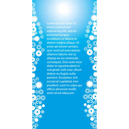 Winter backdrop with snowfalls Stock Vector - 16931623