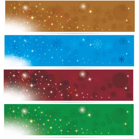Colorful and beautiful cgristmas winter banners Illustration